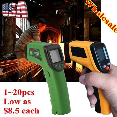 Lot 20 Temperature Gun Non-contact Infrared IR Laser Digital Thermometer LCD FG