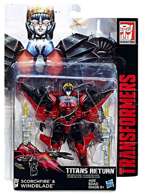 Transformers Titans Return Deluxe Class Autobot Scorchfire & Windblade