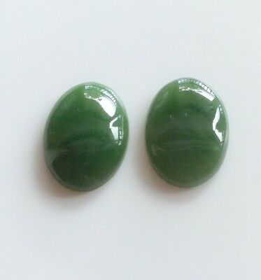 1 PC OVAL CUT SHAPE NATURAL JADE 18x13MM CABOCHON LOOSE GEMSTONE