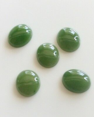 1 PC OVAL CUT SHAPE NATURAL JADE 12x10MM CABOCHON LOOSE GEMSTONE