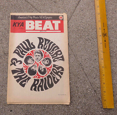 Original May 6  1967 KYA Beat Music Newspaper Vol 2 No 21. San Francisco Ca