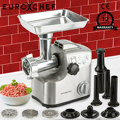 2500W Electric Stainless Steel Meat Grinder Mincer Sausage Filler Kibbe Maker