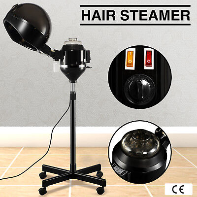 Professional Hair Steamer Hair Care Styling Equipment Salon Spa W/Rolling Stand