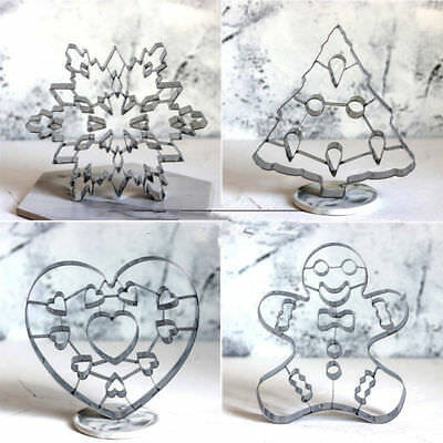 Christmas Tree Snowflake Biscuit Cookie Cutter Fondant Cake Decor Mould Tool