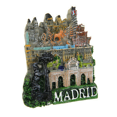 Spain Madrid Landmark Country Travel Tourist Souvenir 3D Resin Fridge Magnet Hot