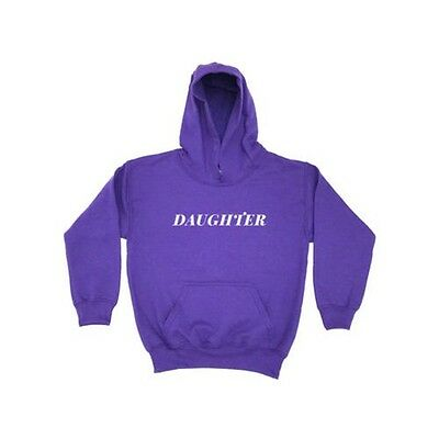 Daughter KIDS HOODIE Girls Boys Childrens Clothing Mother Father Dad Mum