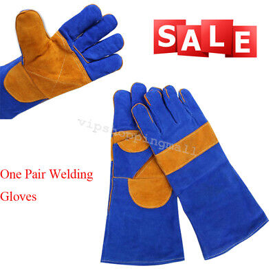 Compact Men's Cushion Core Cowhide TIG MIG Welding Gloves Double Palm 40cm Nice