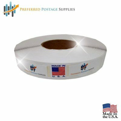 Wafer Seals - White Color 1 Inch Round Circle 4000 Tabs Roll - 1 Roll per Box