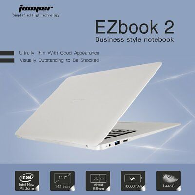 Jumper EZbook 2 Laptop 14.1'' Notebook Win10 OS Quad Core 4GB+64GB 1.3MP Lot NEW
