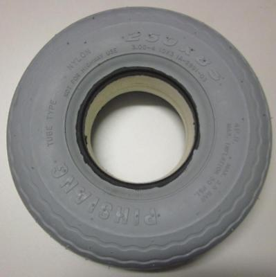 Mobility Scooter Tyre. Size 3.00 x 4 (260 x 85) Front. Puncture Proof Solid Grey