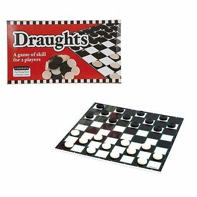 Draughts Board Game - Classic 2 Player Travel Game Christmas Stocking Filler