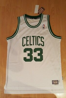 adidas Boston Celtics #33 Larry Bird Trikot L Home weiß dream team NBA jordan