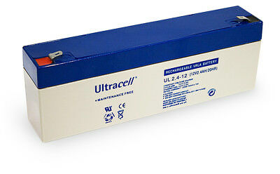 Ultracell UL2.4-12: Batterie au plomb étanche 12V 2.4AH :178x35x60mm