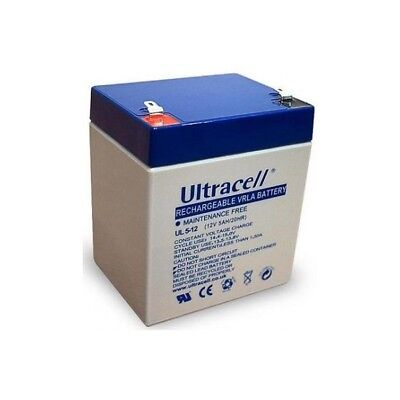 Ultracell UL5-12: Batterie au plomb étanche 12V 5AH :90x70x101mm