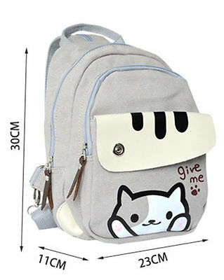 Neko Atsume ねこあつめ Cat Student School Backpack Kawaii Shoulder Messenger Bag A