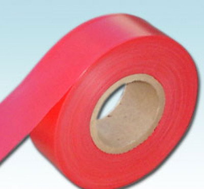 1 Roll RARE RED UV Receptive Flagging Barrier Tape 30mm 50M Tape Ribbon N/Adh