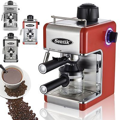 Sentik Stainless Steel 800W Espresso Cappuccino Latte Coffee Machine Maker