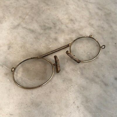 Antique French metal framed oval pince nez spectacles