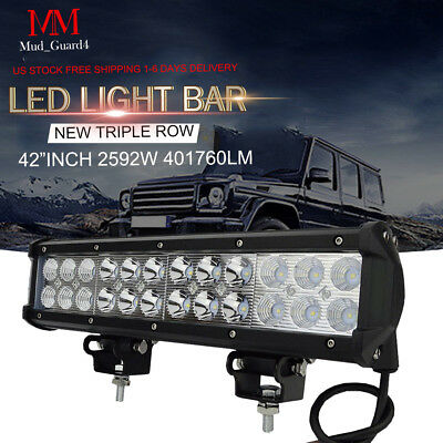 12inch 72W Led Work Light Bar Flood Spot Suv Boat Driving Lamp Offroad ATV XP