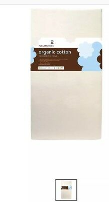 Naturepedic Organic Cotton Lightweight Classic 2-Stage Crib Mattress EUC