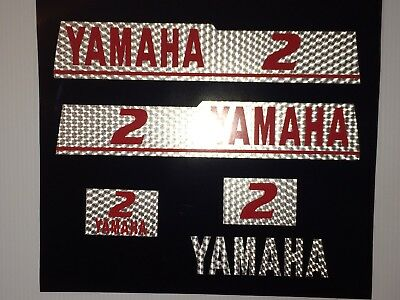Yamaha 1997 2hp Outboard Decal Kit  Marine Vinyl DECALS, STICKERS free ship