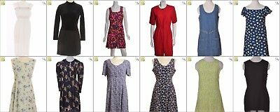JOB LOT OF 43 VINTAGE MIXED DRESSES - Mix of Era's, styles and sizes (24788)