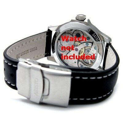 ARISTO Germany ― 18 20 22mm FLIPOVER DIVER DEPLOYANT BUCKLE LEATHER STRAP