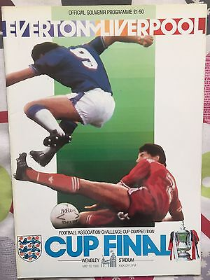 1986 FA Cup Final Programme - Liverpool v Everton