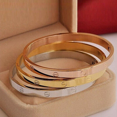 Beautiful Love  Bracelets Gold/rose Gold Plated Not Cartier  **excellent Gifts**