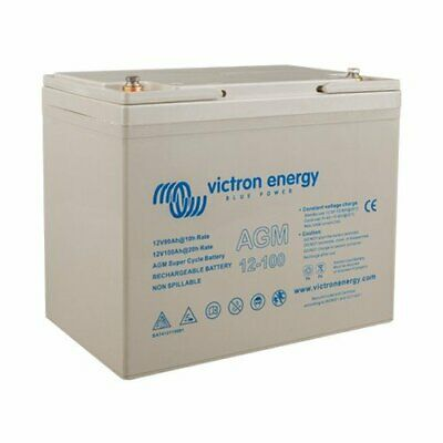Set 2 x AGM Super Cycle Battery 100Ah 12V Victron Energy Photovoltaic Nautical