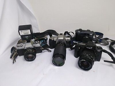 Lot Of 4 Cameras Untested In Good Shape SONY, PENTAX, and MINOLTA wholesale/A