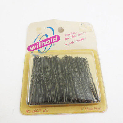 NOS Vintage Bobby Pins Wilhold Flexible 2 Inch Long Hair Hair Piece 80s 90s