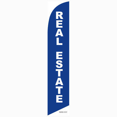 Real Estate Feather Banner Swooper Flag - FLAG ONLY -
