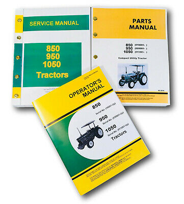John deere model 850-1050 tractor service repair manual.