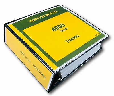 Service Manual For John Deere 4020 4010 4000 Tractor Technical Repair Shop