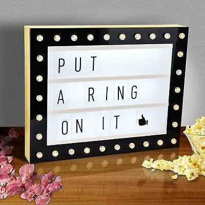 A3 Hollywood Cinematic LED Light Up Box Shop Wedding Party Sign Plaque Decor