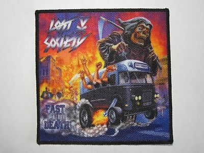 LOST SOCIETY Fast Loud Death printed NEW patch thrash metal