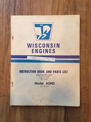Wisconsin Engines Instruction Book