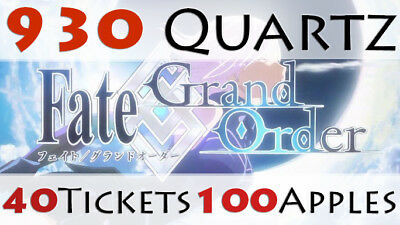 [JP] InstantDelivery Fate Grand Order Starter Account 920 Quartz Fate go Gem FGO