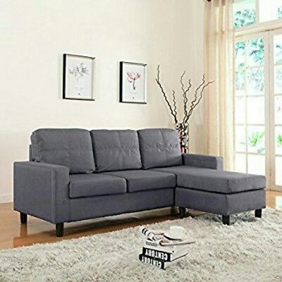 Astounding Modern Linen Fabric Small Space Sectional Sofa With Andrewgaddart Wooden Chair Designs For Living Room Andrewgaddartcom