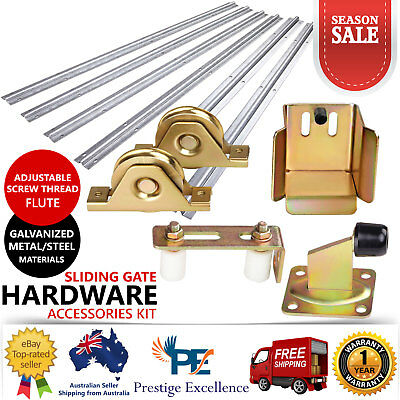 Roller Guide Opener Track Stopper Wheels Sliding Gate Hardware Accessories Kit