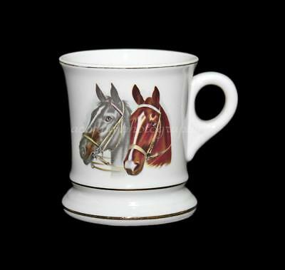 Vintage Antique Porcelain China Equestrian Horse Head, Boot Coffee Cup, Mug #798