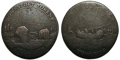UK Suffolk 1795 Lowestoft Halfpenny Token, D&H 37