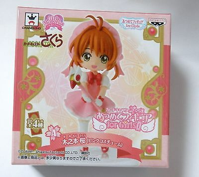 Card Captor Sakura Mini Figure Kinomoto Pink Costume ver Atsumete Figure New
