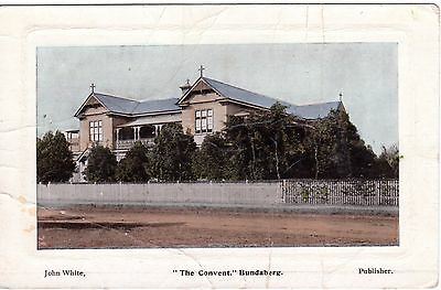 John White Postcard, The Convent Building Bundaberg, QLD C.B. & Co Graphic