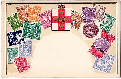 Victoria Stamp Market (VSM) c1906 embossed stamp Postcard New South Wales