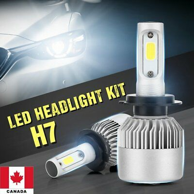 H7 200W COB LED 20000LM Auto Car Headlights Driving Bulbs Lamps Kit 6000K C