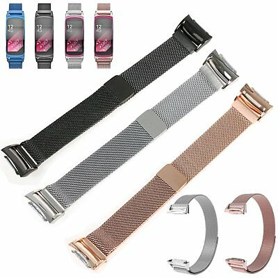 Magnetic Milanese Watch Band Wrist Strap For Samsung Gear Fit2 Pro SM-R365 R-360