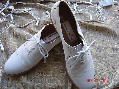 9N ladies vintage nubuck leather LIZ CLAIBORNE wing-tip spectator oxfords shoes