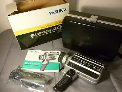 Yashica Super 40K Film Movie Camera Near/as New Cond Box Instruct Remote
